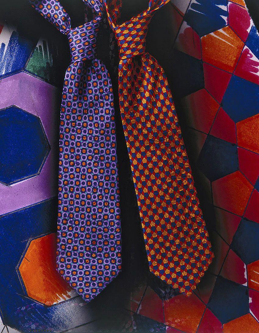 Cravatte fantasia astratta con geometrie Stefano Ricci
